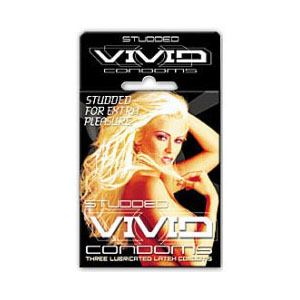 Vivid Studded 3 pack Condoms