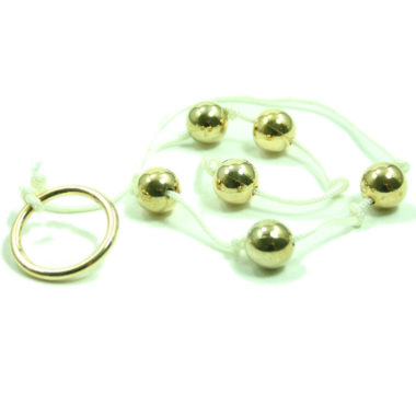 Golden Triangle Anal Beads Small Gold