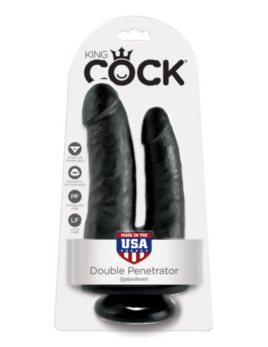 Pipedream King Cock Double Penetrator Black