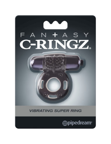 Pipedream Fantasy C-Ringz Vibrating Super Ring Black